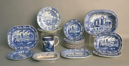 667: Large group of Staffordshire, 19th c.
