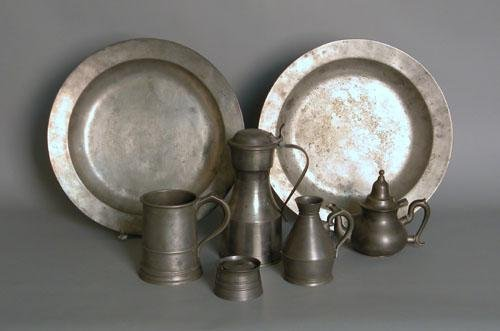 671: Group of Continental pewter, 19th/20th c.