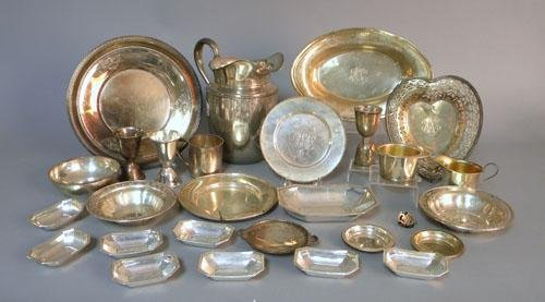 1263: Group of sterling silver tablewares, 84 ozt.