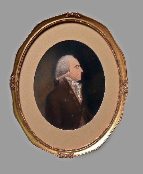 10: Pastel portrait of a gentleman, ca. 1800, 9 1/2''