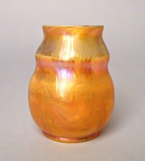 507: Tiffany favrille glass vase signed on base L.C.T.