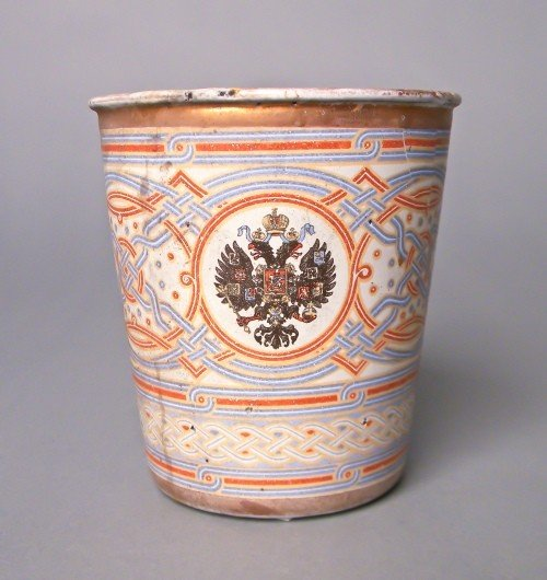 510: Russian enameled coronation cup, 1896, 4'' h.