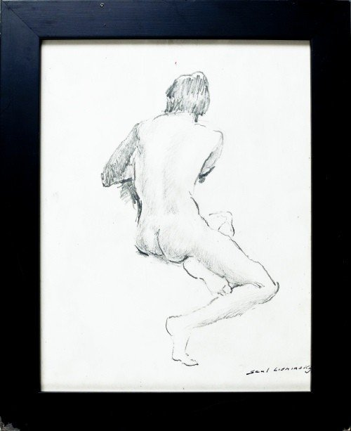 514: Four Saul Lizminsky nude drawings, 10 1/2'' x 8''.