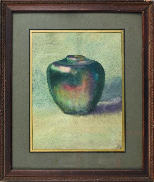 515: Jane A. Pearson watercolor titled A Vase, 8 3/4