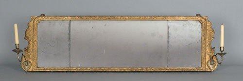 3: Georgian giltwood overmantle mirror, ca. 1770,