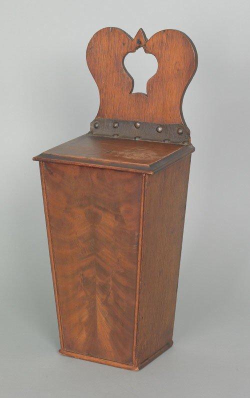 20: English mahogany hanging pipe box, ca. 1800, wi