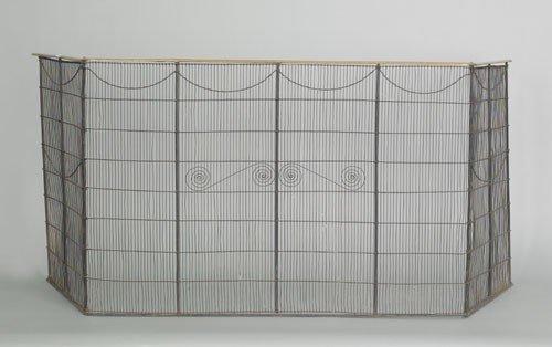 24: Georgian brass and wire folding firescreen, late