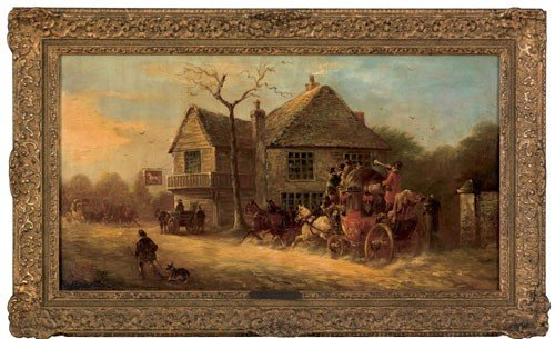 410: John Charles Maggs (British, 1819-1896), oil on