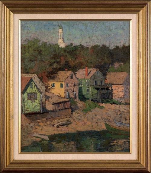 414: Yarnall Abbott (American, 1870-1938), oil on ca