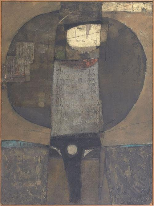 423: Elmar Rojas (Guatemalan, b. 1938), oil and mixe