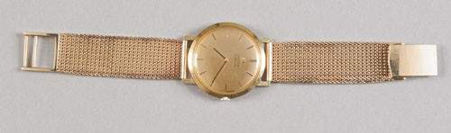 837 Omega Truler mens gold wristwatch 18K yellow