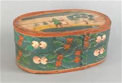 850 Scandinavian painted brides box 19th c 7 1