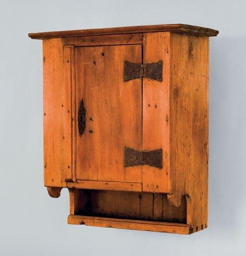 10: Pennsylvania walnut hanging cupboard, ca. 1740,