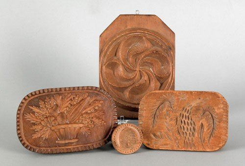 24: Four Pennsylvania butter presses, 19th c., to i