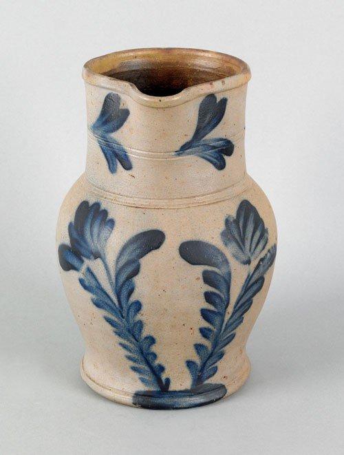 298: Pennsylvania Remmey type stoneware pitcher, 19th