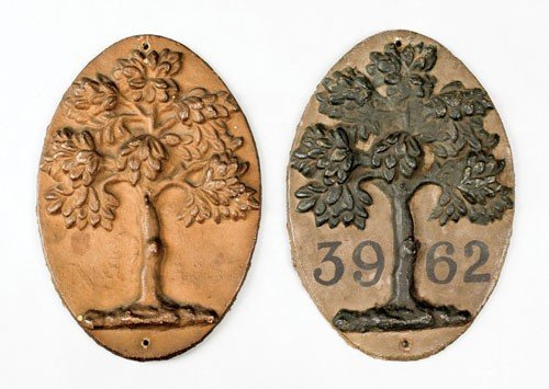 8: Two Mutual Assurance Company green tree cast iro