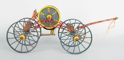 11: Early 20th c. painted wood model of a mid 19th c