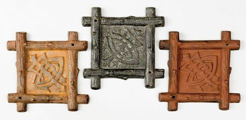 12: Three cast iron fire marks, ca. 1873, for Lumbe