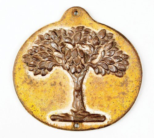 15: Cast iron green tree fire mark, ca. 1827 for th
