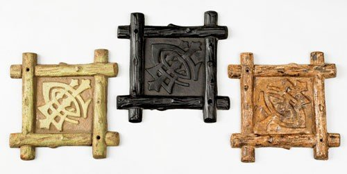 16: Three cast iron fire marks for the Lumbermen's