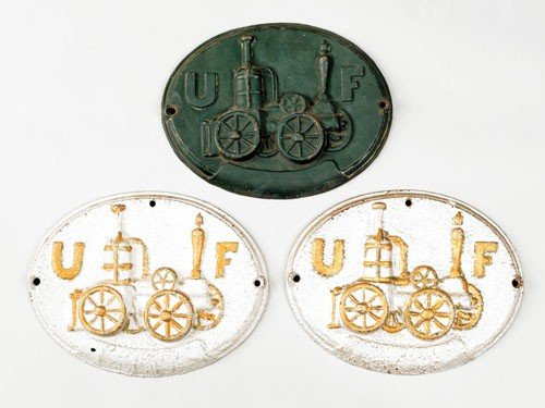 17: Three cast iron fire marks for United Firemen's