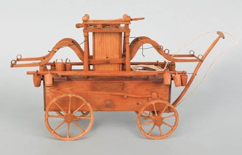 19: Early 20th c. wood model of an early 18th c. sty