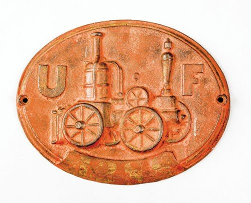 21: Cast iron steamer fire mark for the United Fire