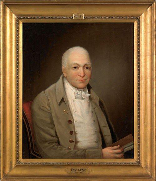 49: Oil on canvas portrait of Godfrey Haga, Directo