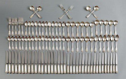 250: Sterling silver flatware service by Frank W. Smi