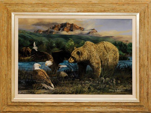 3: Gary Swanson (American, b. 1941), oil on canvas t