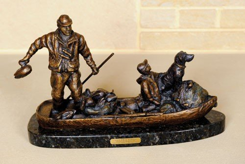 10: Ott Jones (American, 20th c.), bronze of a father