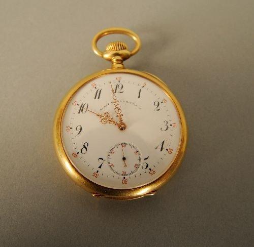 972: Patek Philippe 18k pocket watch, No. 113357, reta