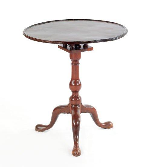 3: George II mahogany candlestand, mid 18th c., th