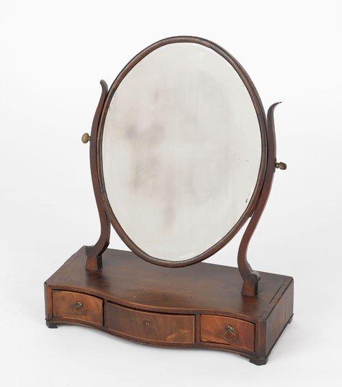 10: English Hepplewhite mahogany shaving mirror, ca.