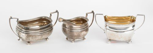 11: Two Georgian silver sugar bowls, ca. 1811, toge