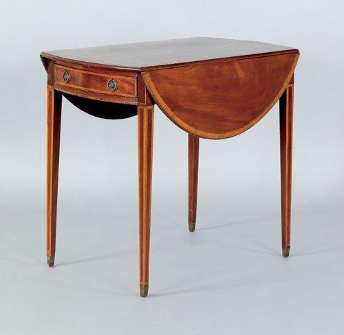 18: George III mahogany Pembroke table, late 18th c.