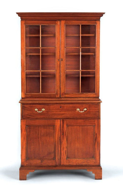 22: George III mahogany two-part bookcase, ca. 1770