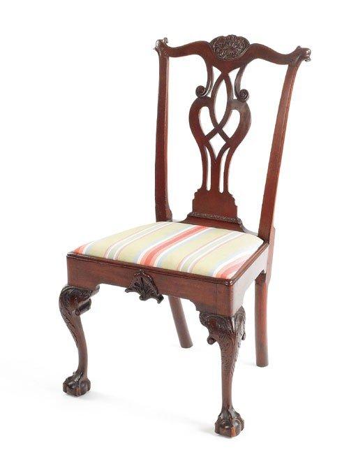 94: Philadelphia Chippendale mahogany dining chair,