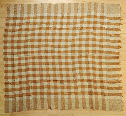 1: Pennsylvania brown and white homespun, 19th c., i