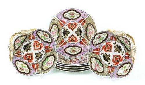 17: Set of six English porcelain Imari palette plates