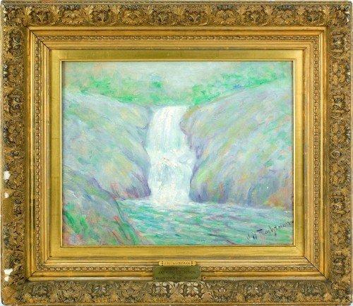 451: After John Henry Twachtman, oil on canvas landsca