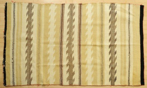 601: Native American woven blanket, early 20th c., 80''