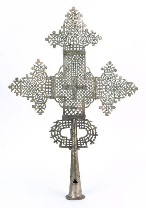 606: Continental wrought iron cross, 27 1/2'' h.