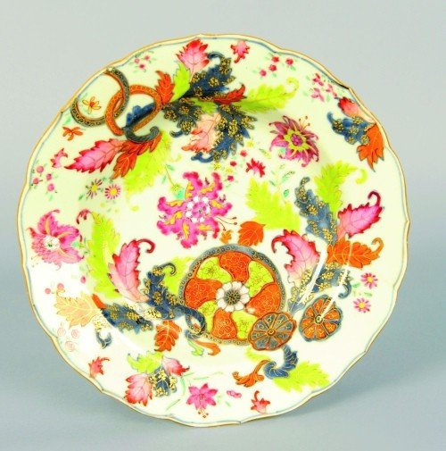 625: Chinese export tobacco leaf soup bowl, early 19th