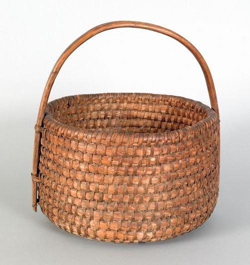 3: Pennsylvania rye straw gathering basket, 19th c.