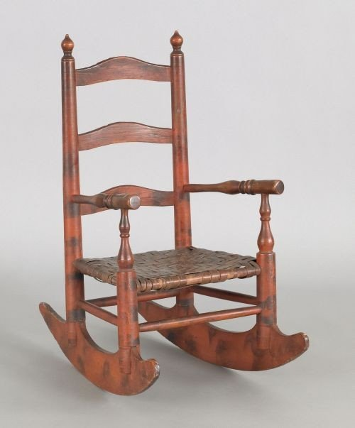 6: Pennsylvania painted child's rocking chair, 19th