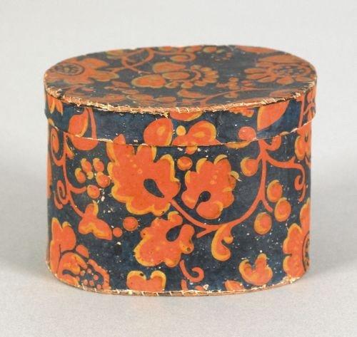 61: Small Pennsylvania wallpaper box, mid 19th c.,