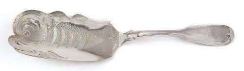 231: Baltimore, Maryland silver fish slice, ca. 1835