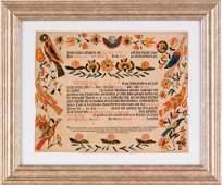 282: York County, Pennsylvania printed and hand color