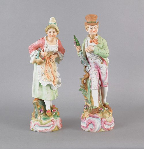 10: Pair or Camille Naudot & Co. bisque figures of a